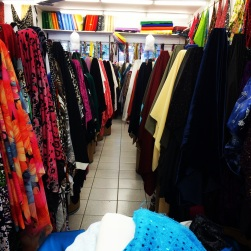 Fabric shopping on St. Hubert.