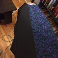 Adding some black cotton.