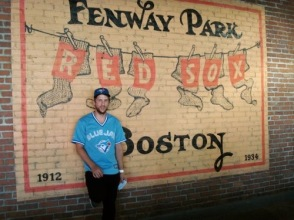 Visiting Fenway Park, Boston, 2012.