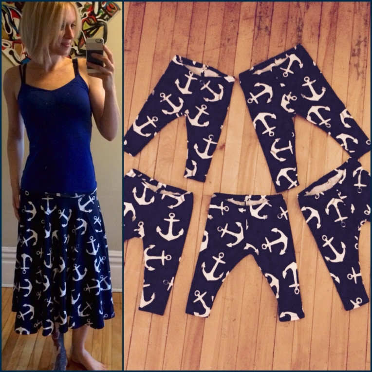 Anchor skirt into sailor leggings.