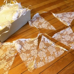 Decorative lace pennant strings!